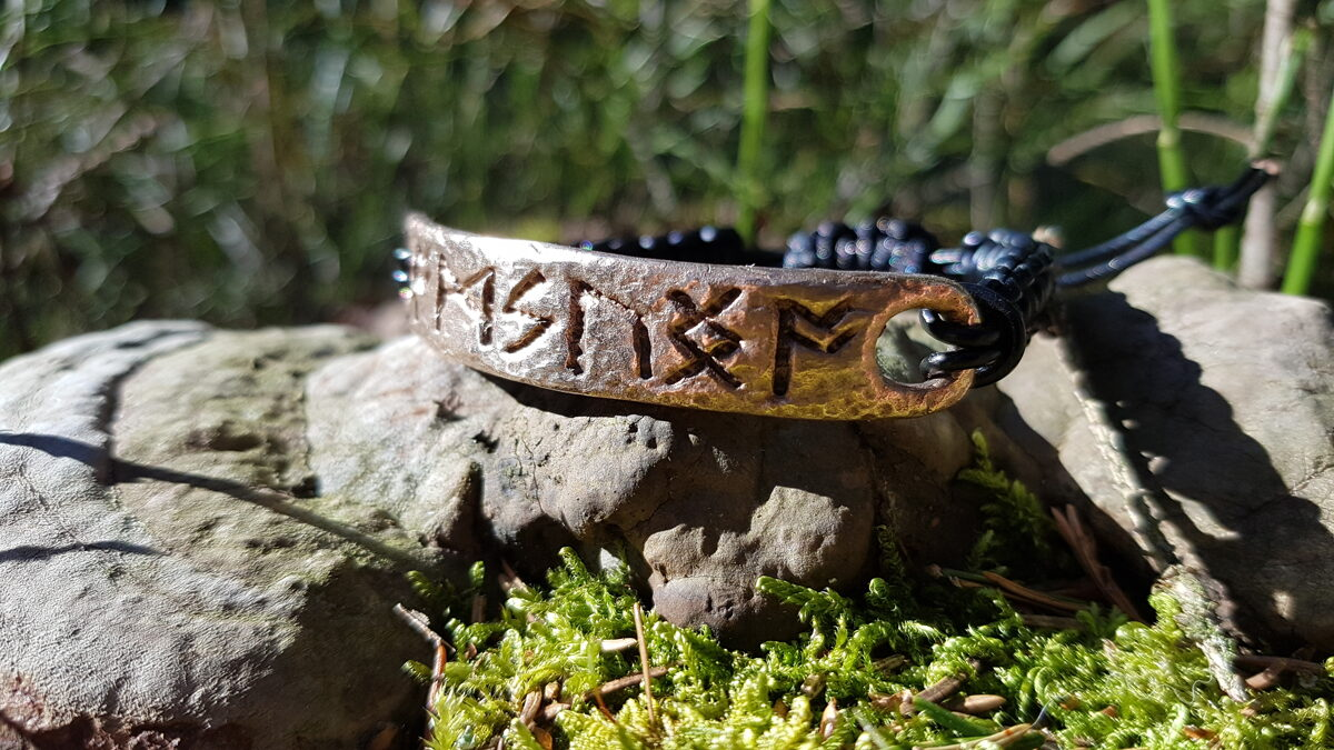 Bronze bracelet amulet with celtic runes formula. Real amulet from Celtic Magic and Alchemy master. Specially programmed. Spiritual growth.