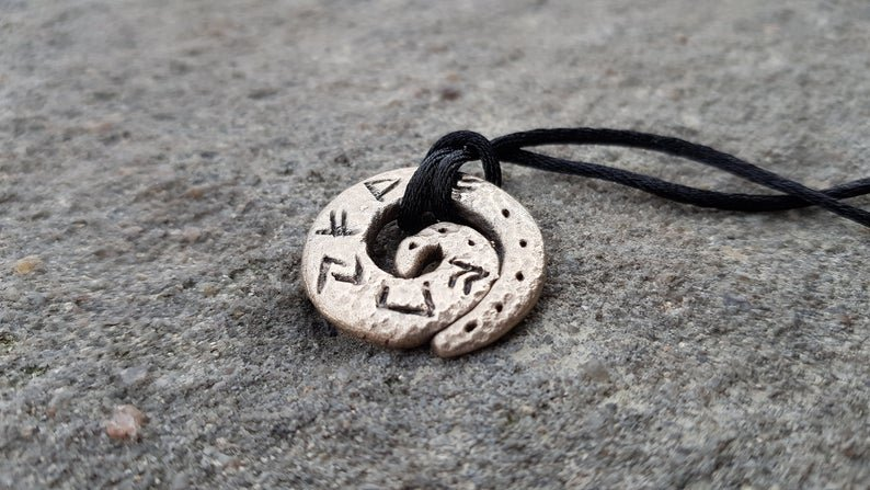 Money amulet / talisman with celtic runes formula. Bronze pendant. Real amulet from Celtic Magic and Alchemy master. Specially programmed.