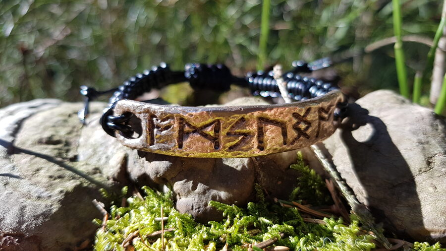 Bronze or silver bracelet amulet with celtic runes formula. Real amulet from Celtic Magic and Alchemy master. Specially programmed. Spiritual growth.