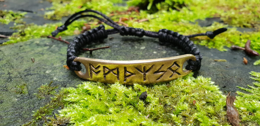 Bronze or silver bracelet amulet with celtic runes formula. Real amulet from Celtic Magic and Alchemy master. Specially programmed. Strong protection.